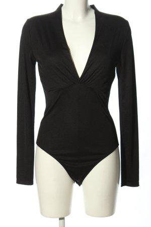 Zara Woman Blusen-Body schwarz Casual-Look