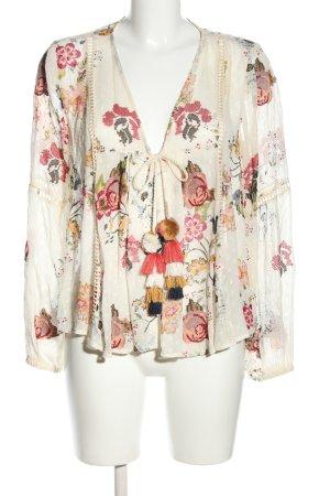 Zara Woman Blusenjacke Allover-Druck Casual-Look