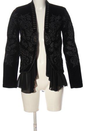 Zara Woman Blusenjacke schwarz Casual-Look