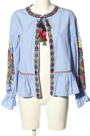 Zara Woman Marynarka koszulowa Wyhaftowany logo W stylu casual