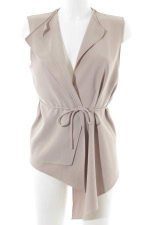 Zara Woman Blusenjacke hellbeige Casual-Look