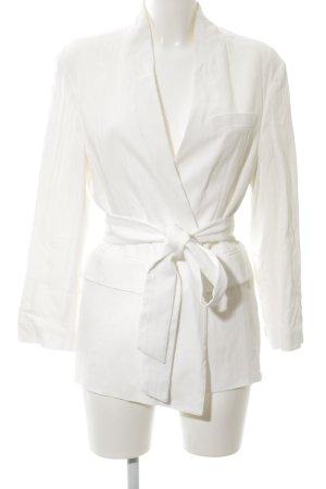 Zara Woman Chaqueta tipo blusa blanco elegante