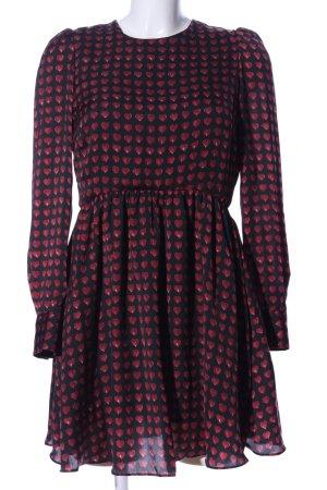 Zara Woman Abito blusa nero marrone stampa integrale stile casual