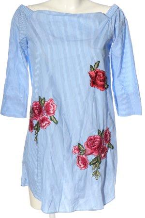 Zara Woman Blusenkleid Allover-Druck Casual-Look