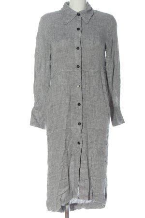 Zara Woman Abito blusa grigio chiaro puntinato stile professionale