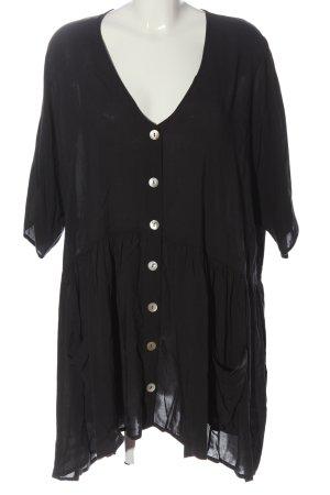 Zara Woman Blusenkleid schwarz Casual-Look