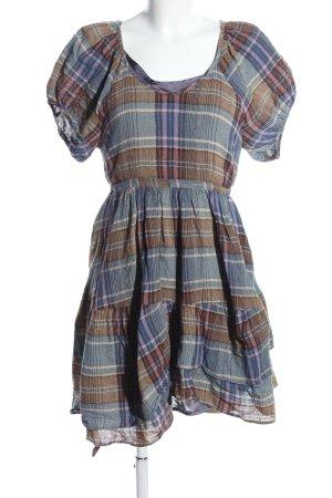 Zara Woman Blusenkleid Karomuster Casual-Look