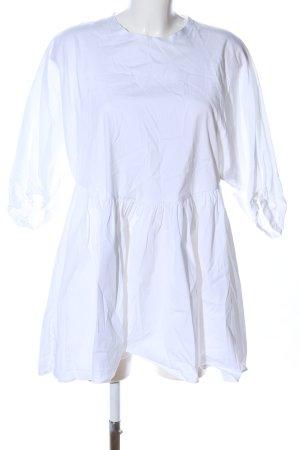 Zara Woman Blusenkleid weiß Casual-Look
