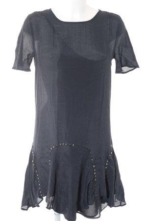 Zara Woman Blusenkleid dunkelblau Street-Fashion-Look