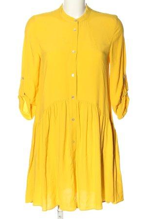 Zara Woman Blusenkleid blassgelb Casual-Look