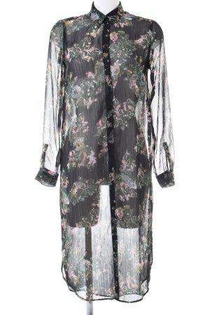 Zara Woman Blusenkleid Blumenmuster extravaganter Stil