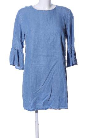 Zara Woman Blusenkleid blau Casual-Look