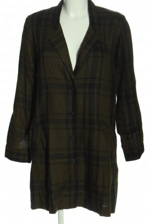 Zara Woman Blusenkleid schwarz-braun Karomuster Casual-Look