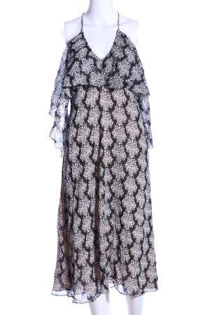 Zara Woman Blousejurk zwart-wit volledige print elegant