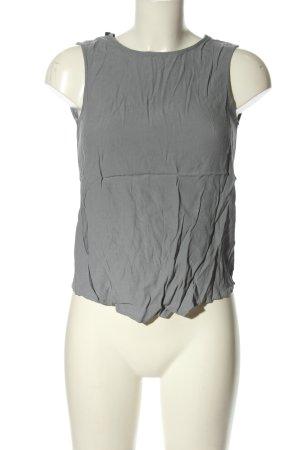 Zara Woman Blusentop hellgrau-schwarz Casual-Look