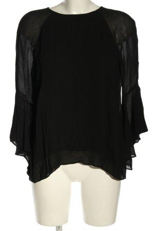 Zara Woman Blusentop schwarz Casual-Look