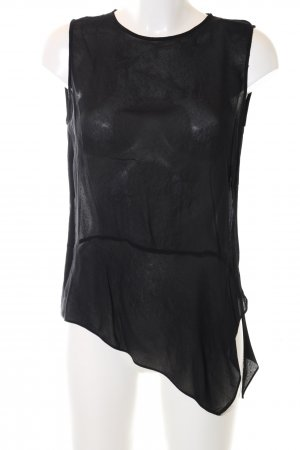 Zara Woman Blusentop schwarz Elegant
