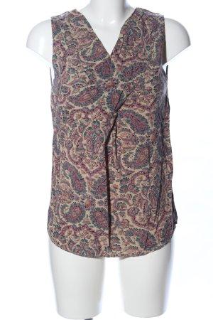 Zara Woman Blusentop abstraktes Muster Casual-Look