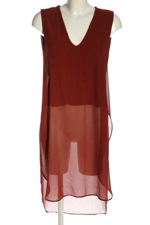 Zara Woman Top koszulowy brązowy W stylu casual