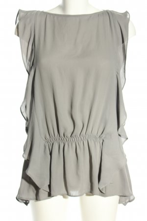 Zara Woman Blusentop hellgrau Casual-Look