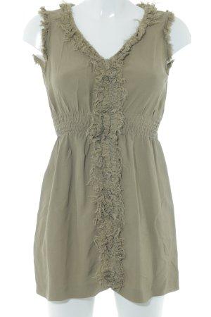 Zara Woman Blusentop olivgrün Casual-Look