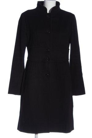 Zara Woman bodenlanger Mantel schwarz Business-Look