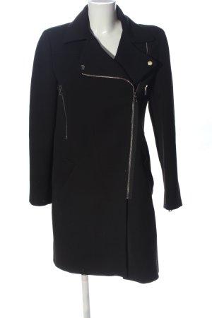 Zara Woman Manteau long noir style décontracté