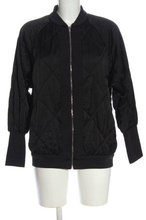 Zara Woman Bomberjack zwart quilten patroon casual uitstraling