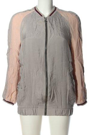Zara Woman Bomberjacke hellgrau-creme Casual-Look