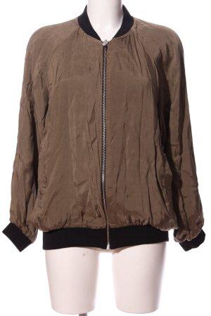 Zara Woman Bomberjacke braun-schwarz Casual-Look