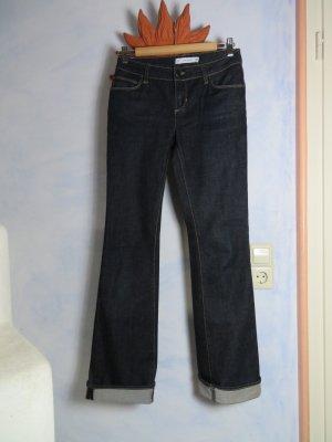 Zara Woman Boot Cut Jeans - Dunkelblau Casual-Look - Gr. 36