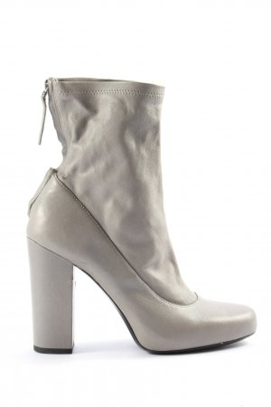 Zara Woman Booties hellgrau Casual-Look