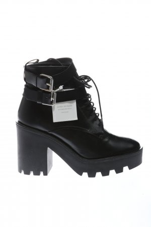 Zara Woman Booties schwarz Casual-Look