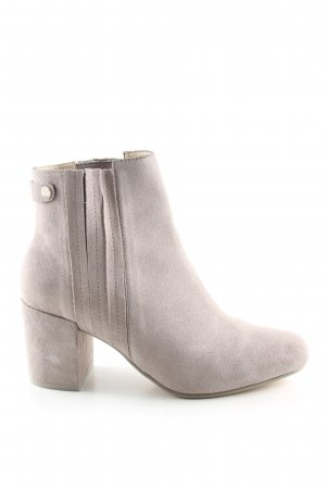 Zara Woman Booties hellgrau Casual-Look