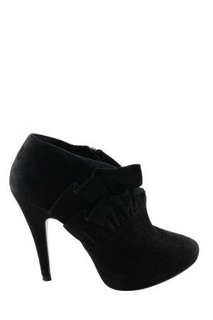 Zara Woman Booties schwarz Business-Look