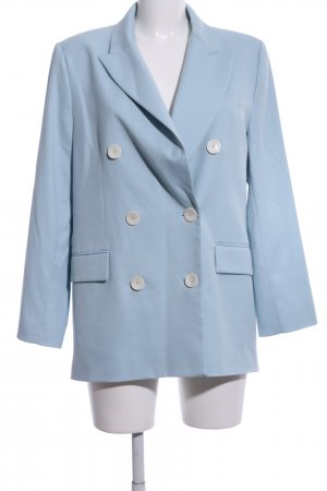 Zara Woman Boyfriend-Blazer blau Business-Look