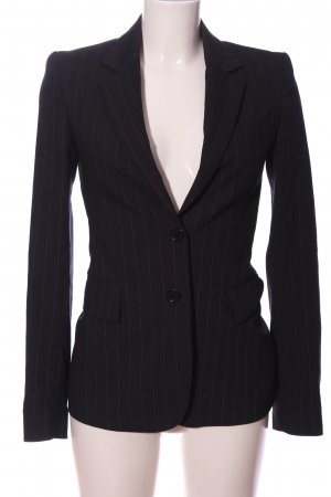 Zara Woman Boyfriend-Blazer schwarz-weiß Streifenmuster Business-Look
