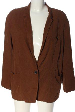 Zara Woman Blazer Boyfriend marrón look casual