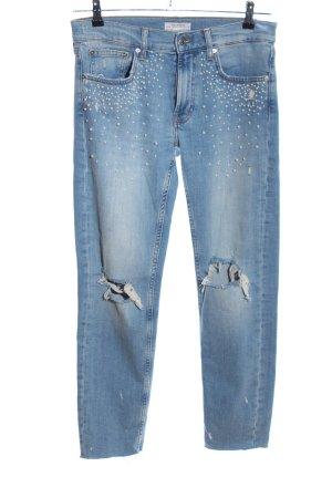 Zara Woman Jeans boyfriend bleu style mode des rues