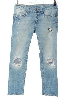 Zara Woman Jeans boyfriend blu stile casual