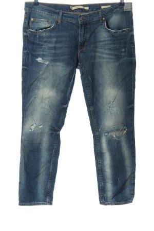 Zara Woman Boyfriend jeans blauw casual uitstraling