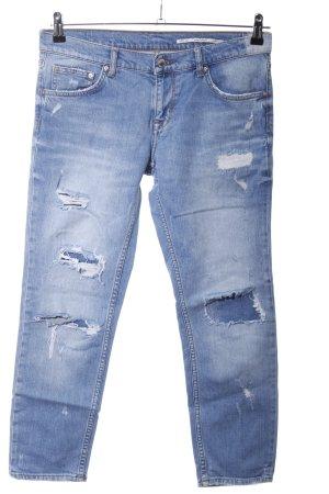 Zara Woman Boyfriendjeans blau Casual-Look