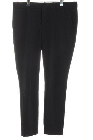 Zara Woman Bundfaltenhose schwarz Business-Look
