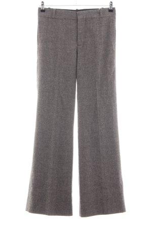 Zara Woman Bundfaltenhose hellgrau meliert Business-Look