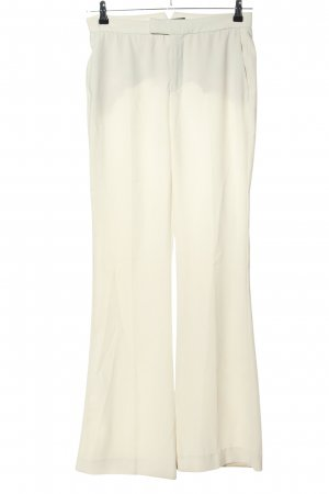 Zara Woman Bundfaltenhose wollweiß Casual-Look
