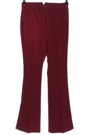 Zara Woman Bundfaltenhose rot Business-Look