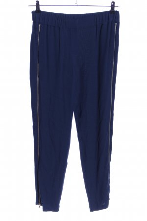 Zara Woman Bundfaltenhose blau Casual-Look