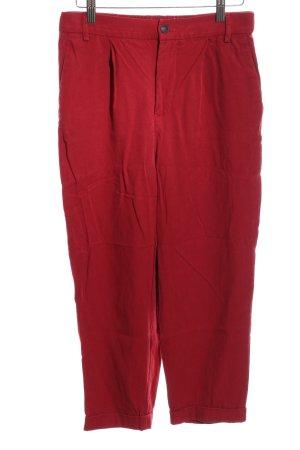 Zara Woman Bundfaltenhose rot Casual-Look