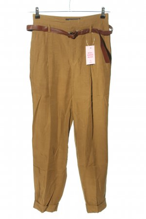 Zara Woman Pleated Trousers bronze-colored casual look