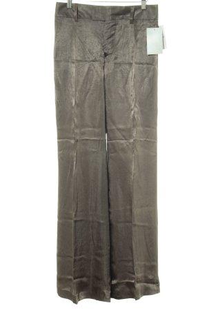 Zara Woman Pantalón de pinza marrón grisáceo look efecto mojado